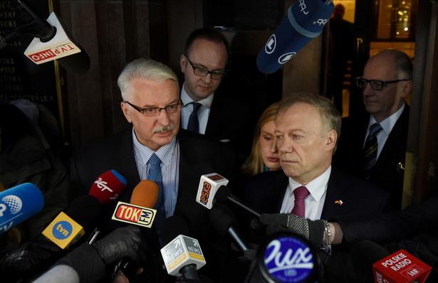 Ambasador Niemiec w RP Rolf Nikel i minister spraw zagranicznych Witold Waszczykowski