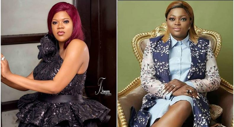 Nollywood movie stars Toyin Abraham and Funke Akindele Bello [Instagram/ToyinAbraham] [Instagram/FunkeJenifaAkindele]