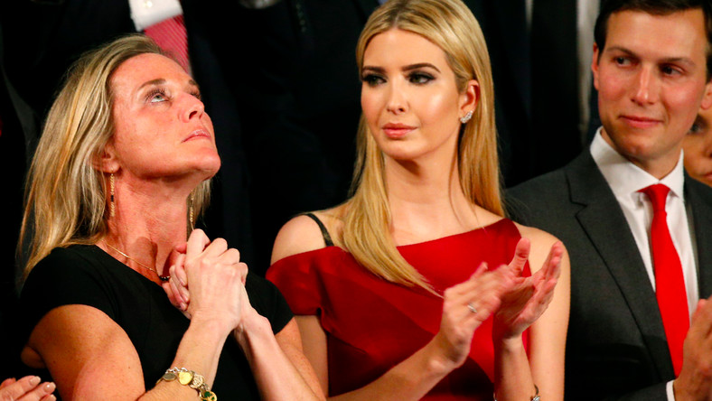 Carryn Owens with Ivanka Trump and Jared Kushner on Tuesday.