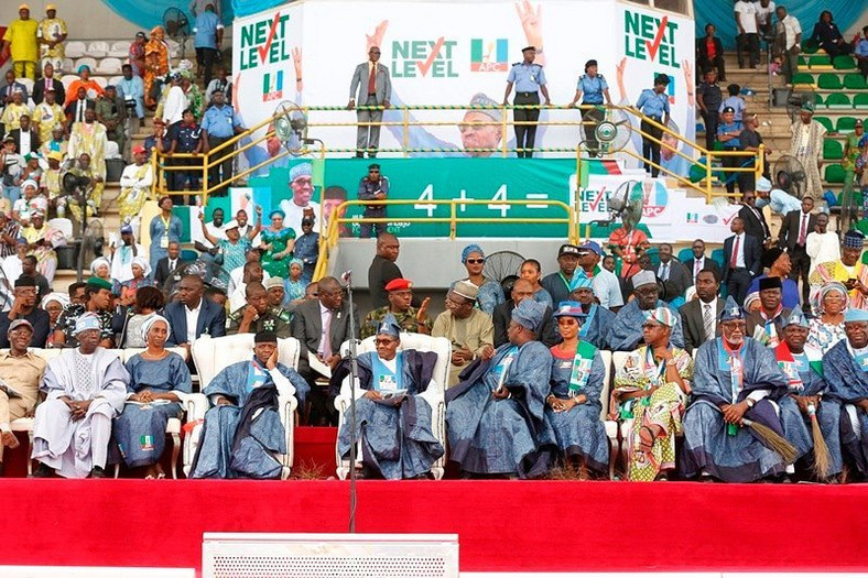The APC leadership endured a shameful outing at its Ogun State rally on Monday, February 11, 2019 [Twitter/@AkinwunmiAmbode]
