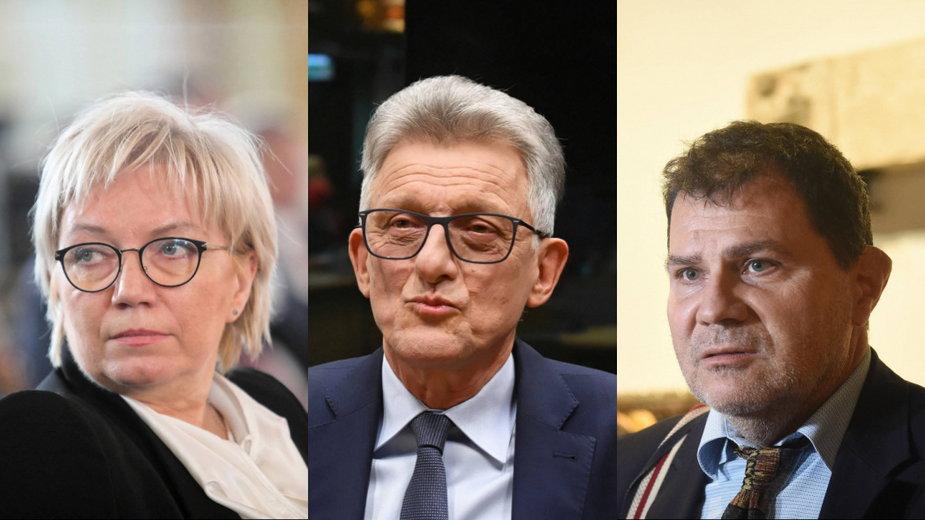 Julia Przyłębska, Stanisław Piotrowicz i Mariusz Muszyński - sędziowie Trybunału Konstytucyjnego
