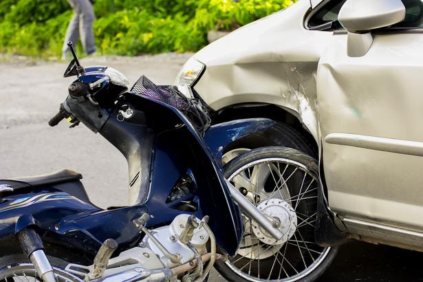 Motocykl - wypadek