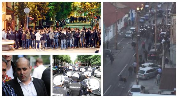 """VIDEO) HULIGANI POKUŠALI DA UPADNU NA FESTIVAL """"MIRDITA"""" Pogledajte kako je  izgledao SUKOB S POLICIJOM u centru Beograda"""
