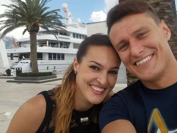 Kinga Byzdra z partnerem - Łukaszem