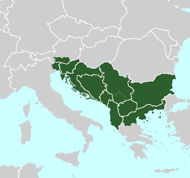 """Mapa """"Velike Jugoslavije"""""""
