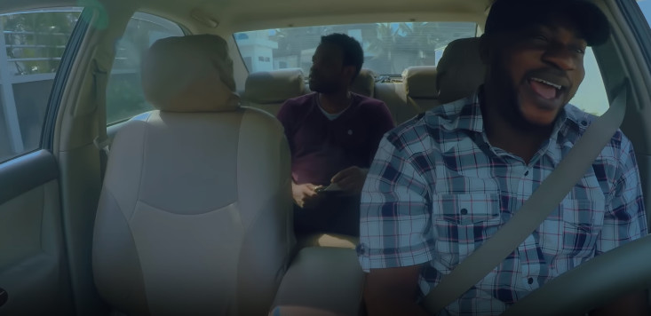 Odunlade Adekola and Gabriel Afolayan in a scene from 'Coming From Insanity. [YouTube/The Movement Pro. Pictures]