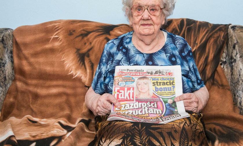 Pani Szarlotta: Mam sto lat i czytam Fakt!