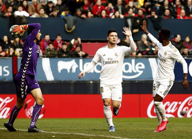 Luka Jović slavi pogodak protiv Osasune