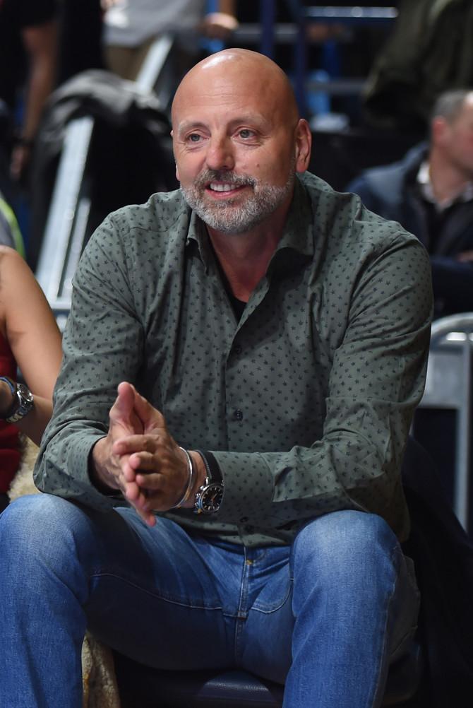 Saša Obradović na sinoćnoj košarkaškoj utakmici Crvena zvezda- Budućnost