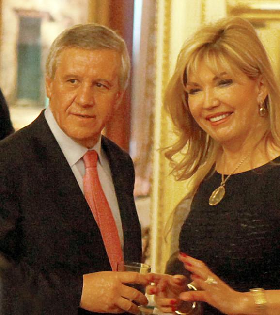 Suzana Mančić sa verenikom Simeonom