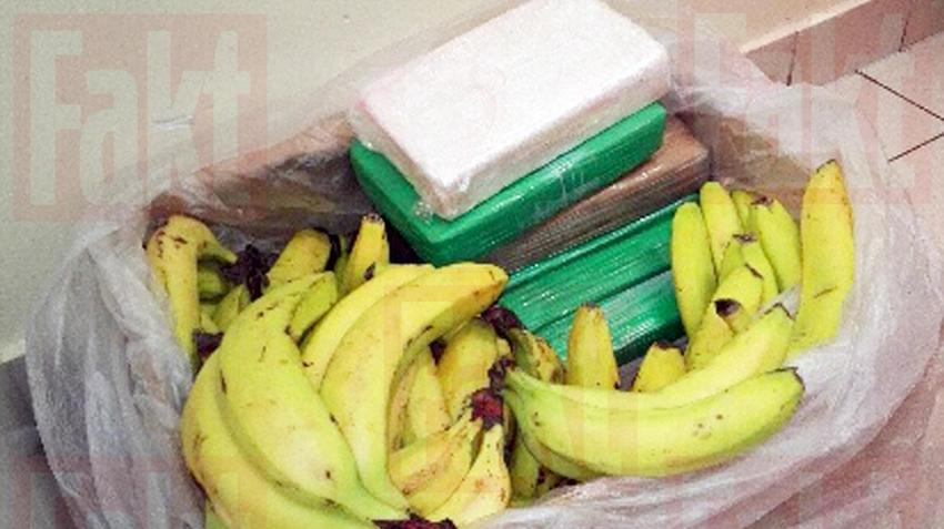 Nietypowy Okaz Sokołów Podlaski. Kokaina w kartonach z bananami w sieci stokrotka EO74