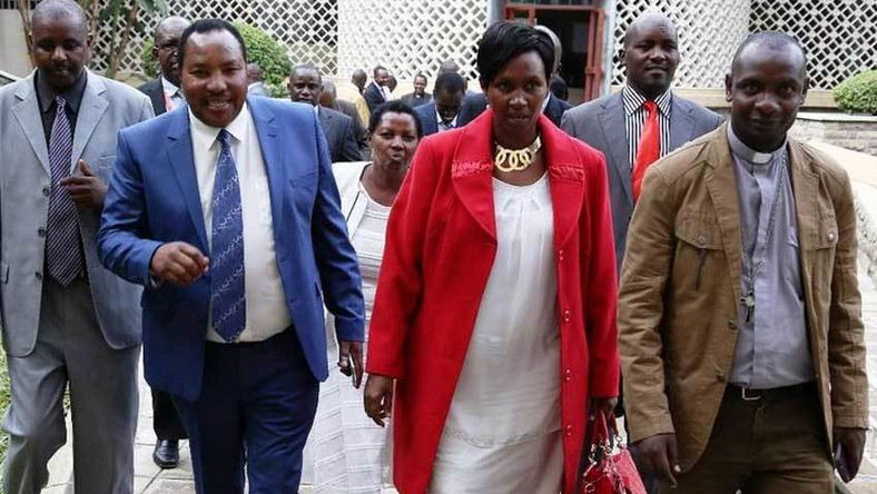 File image of Governor Ferdinand Waititu with his wife Susan Ngun'gu. The two were taken in for questionning at EACC offices alongside their daughter Njeri Ndun'gu