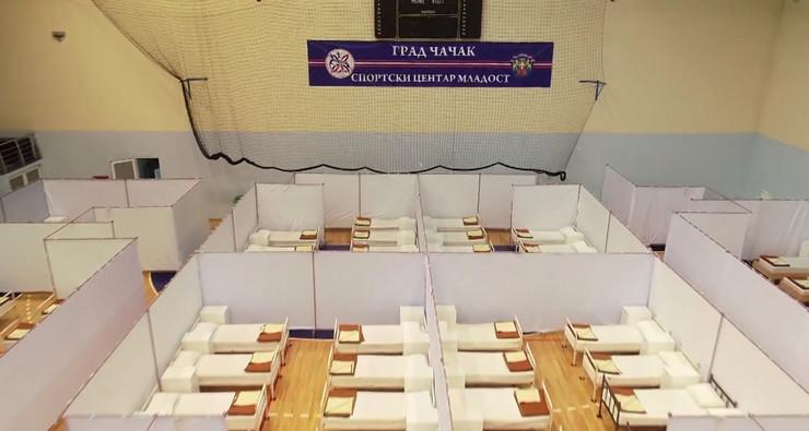 Čačak Plava hala u Atenici privremena bolnica