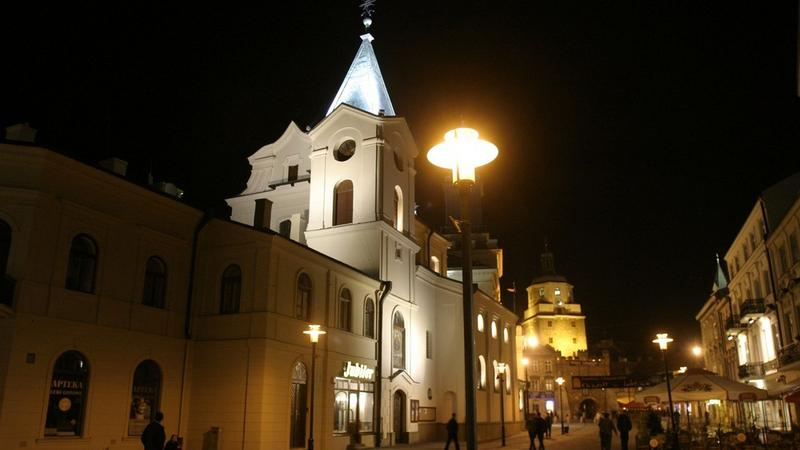 Lublin - Krakowskie Przedmieście nocą