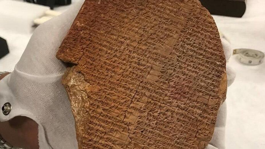 Tabliczka z fragmentem Eposu o Gilgameszu