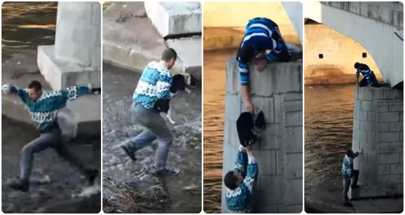 Javnosti je postao poznat kada je rizikovao svoj život da bi spasio psa koji se nalazio u vodi