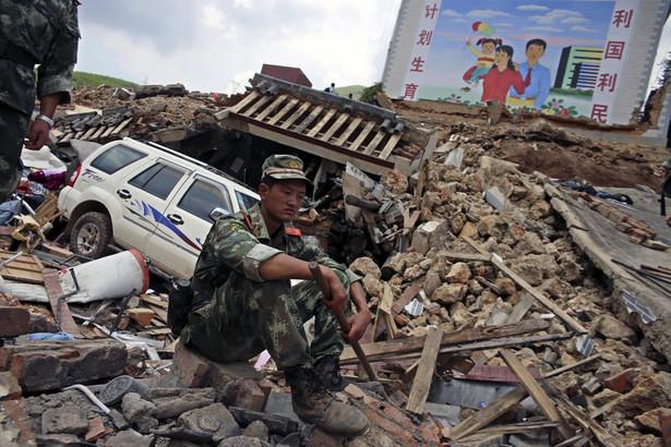 Trzęsienie ziemi w Chinach. Fot. EPA/WU HONG