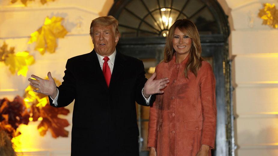 Prezydent USA Donald Trump z Pierwszą Damą Melanią Trump