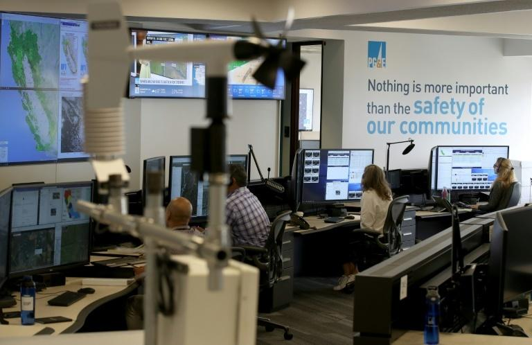 In this photo taken on August 5, 2019 a view of the Pacific Gas and Electric (PG&E) Wildfire Safety Operations Center is seen in San Francisco, California