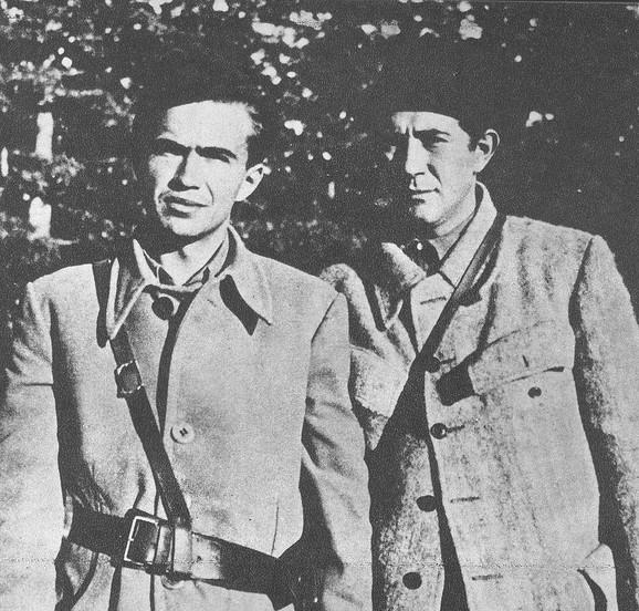 Ivo Lola Ribar i Milovan Đilas