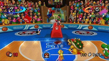 "Screen z gry ""Mario Sports Mix"""