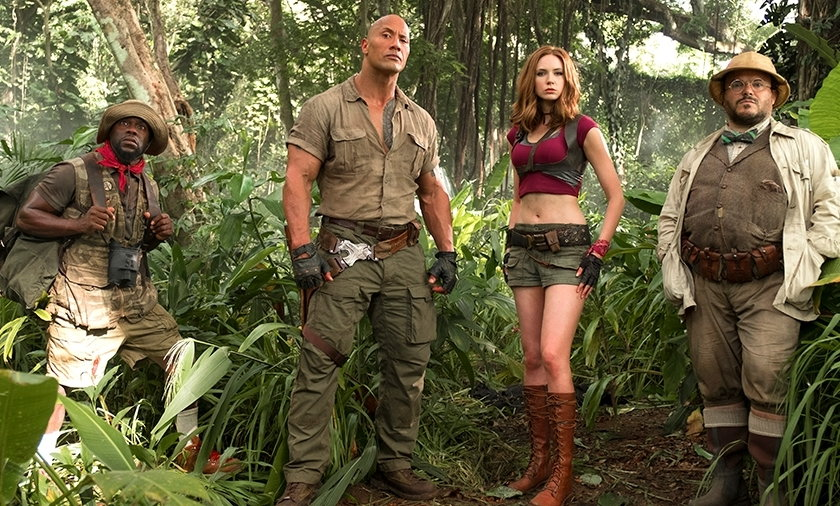"""Główni bohaterowie filmu """"Jumanji. Przygoda w dżungli"""""""