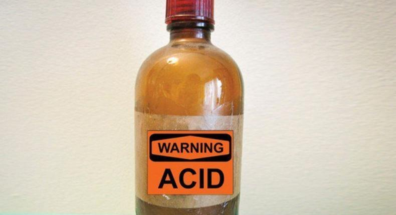 A bottle of acid