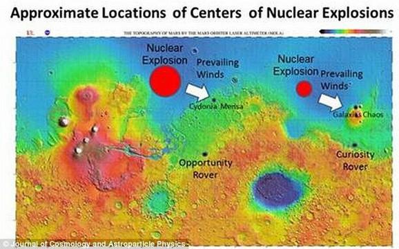 Površina Marsa prekrivena je tankim slojem radioaktivne materije