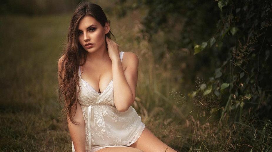 Natalia Matysiak podczas sesji zdjęciowej