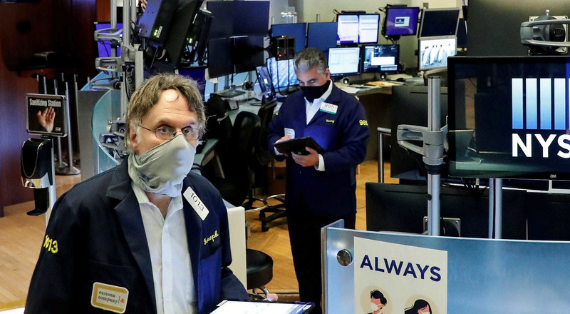 US stocks trade mixed as investors assess jobless-claims data, US-China tensions