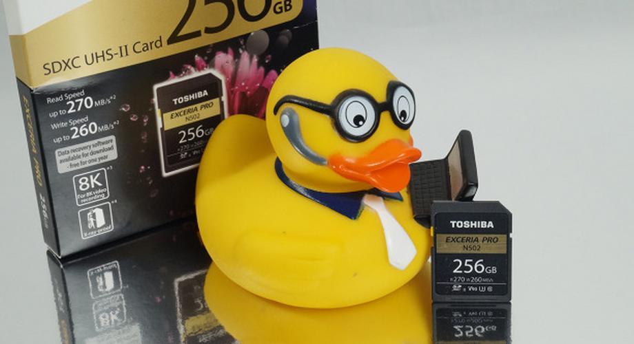 Toshiba Exceria Pro N502 256 GByte: schnell, groß, seltsam