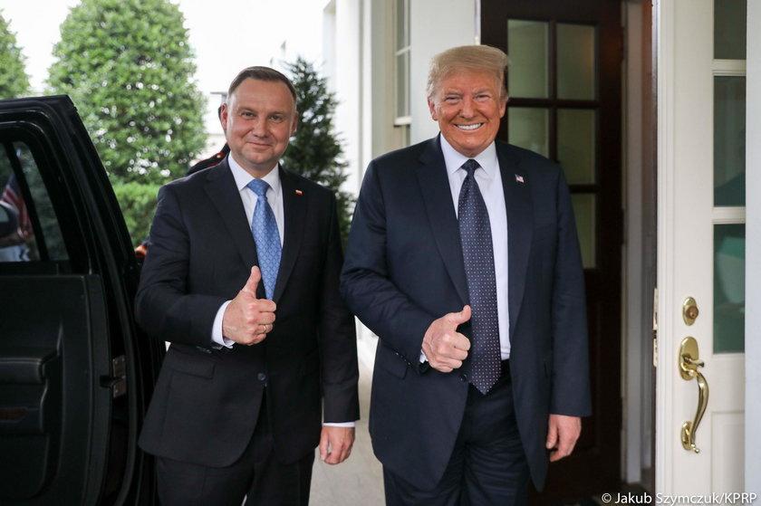 Andrzej Duda i Donald Trump