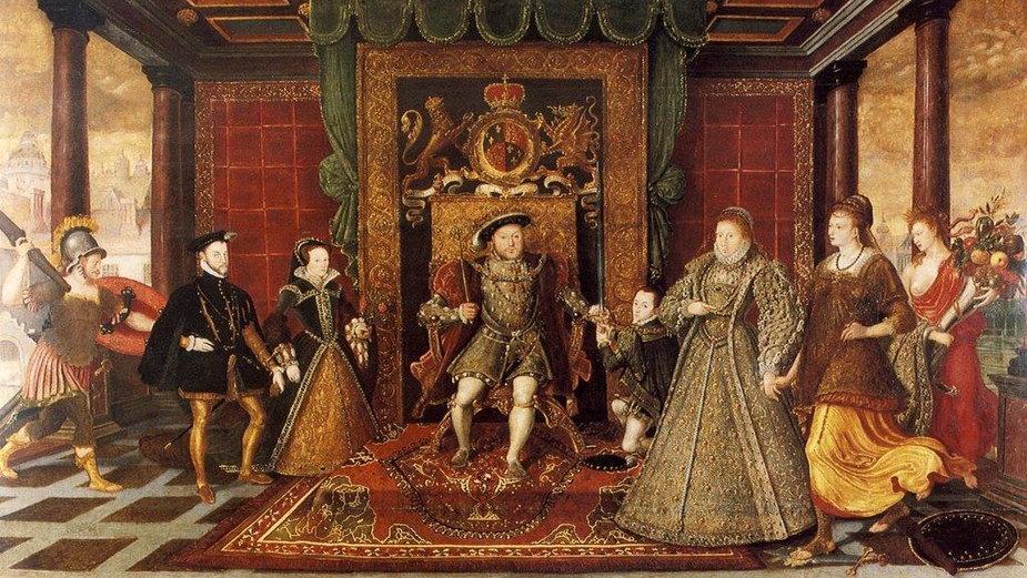 Henryk VIII z rodziną (domena publiczna)