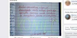 To nauczycielka napisała pod zadaniem trzecioklasistki. Burza w sieci!