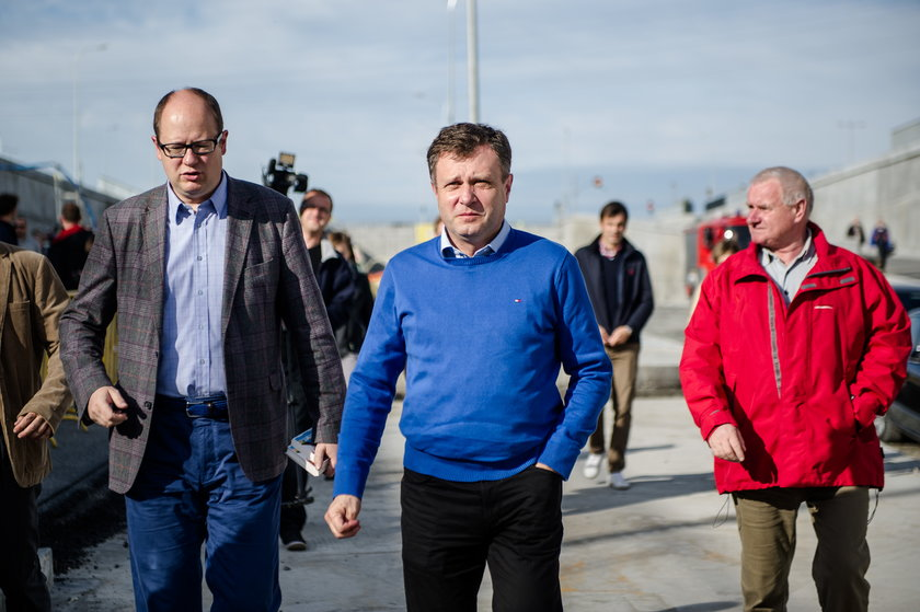 Paweł Adamowicz i Jacek Karnowski