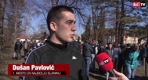 Dušan Pavlović iz Novog Pazara, poednik u kategoriji najbolja domaća slanina