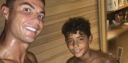 Ronaldo pochwalił się selfie z synem. Hartowali się w saunie