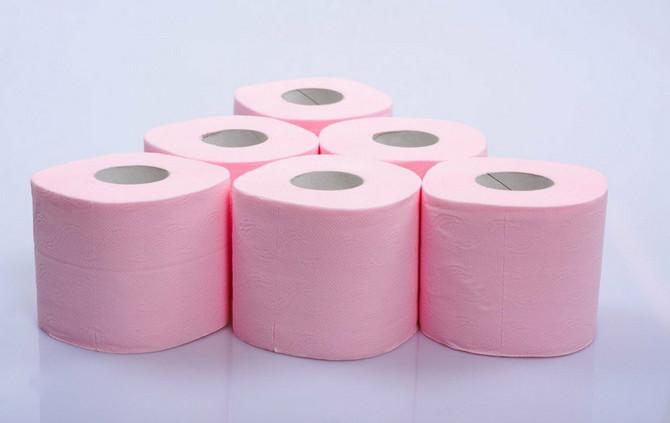 Roze toalet papir