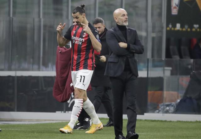 Zlatan Ibrahimović i trener Milana Stefano Pioli