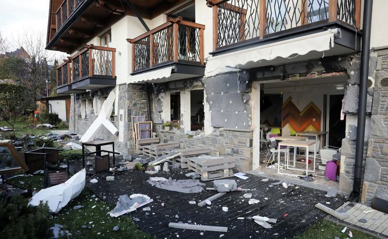 Wybuch gazu w hotelu w Białce Tatrzańskiej
