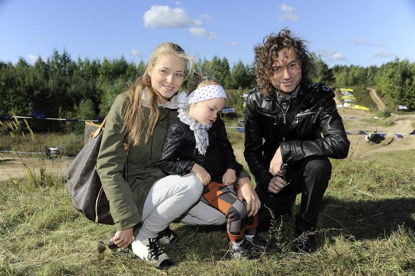 Piotr Rubik z żoną Agatą i córką Heleną