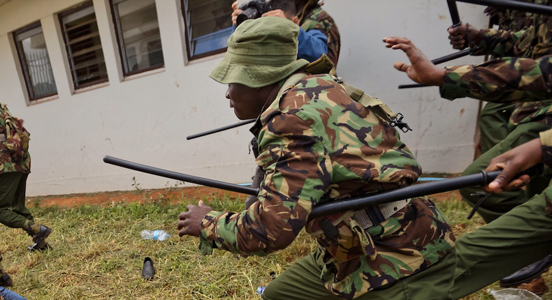 Police Constable Abel Musati arrested for shooting at Traffic Officer Hillary Korir using his AK-47 rifle
