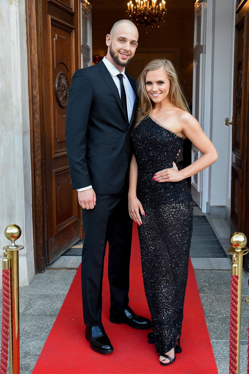 Agnieszka Kaczorowska z mężem Maciejem Pelą