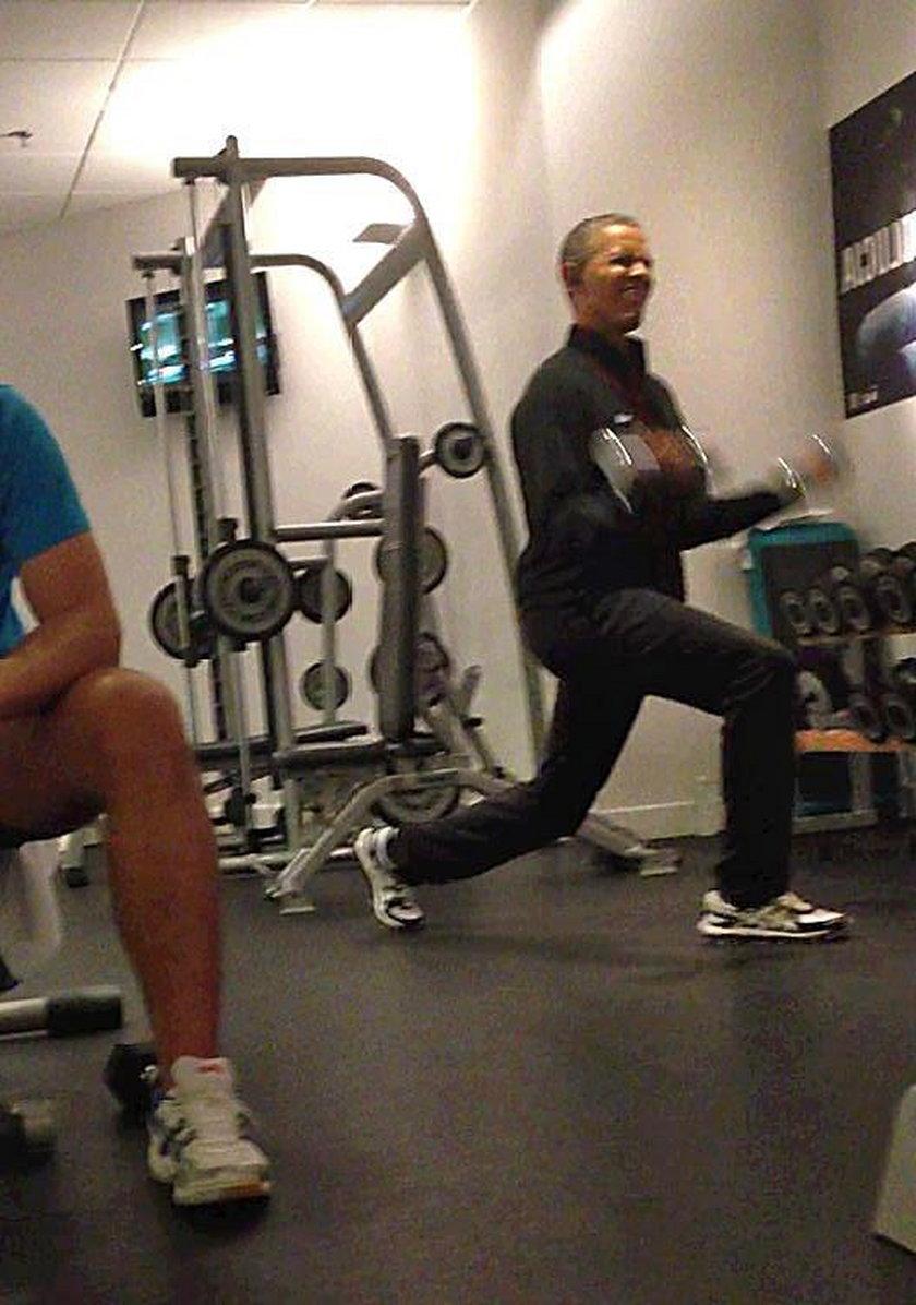 Barack Obama na siłowni w Polsce. Tylko w Fakcie