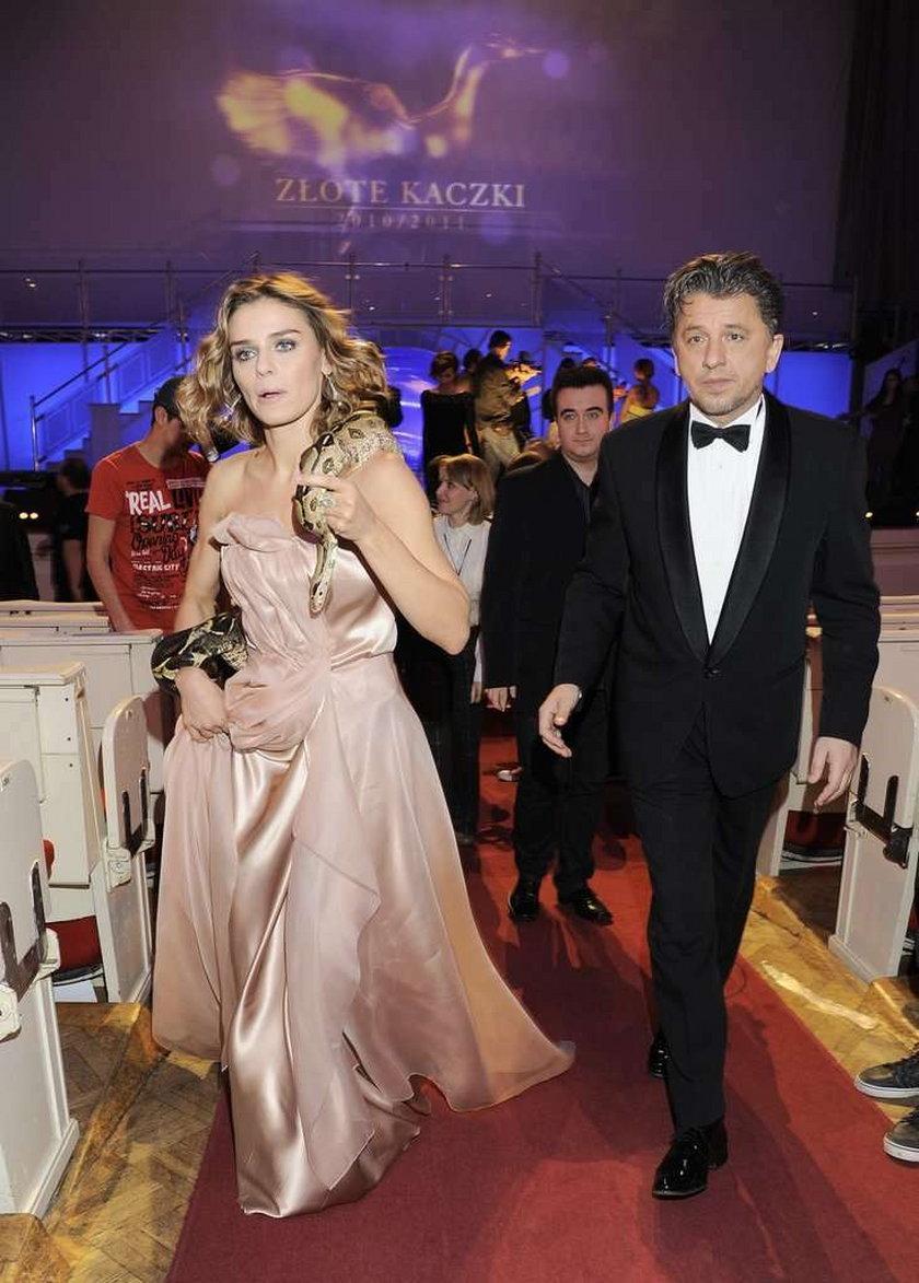 Natasza Urbańska i Janusz Józefowicz na imprezie