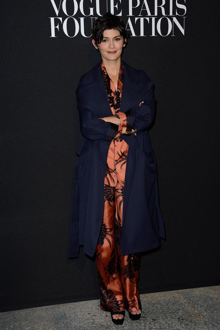 Audrey Tautou na gali Vogue Foundation