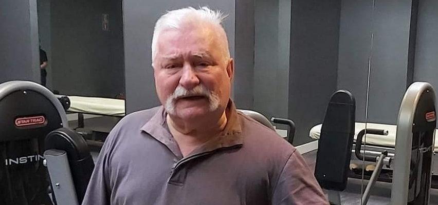 Tak Wałęsa dba o formę. Czyje zdjęcie pokazał przy okazji?