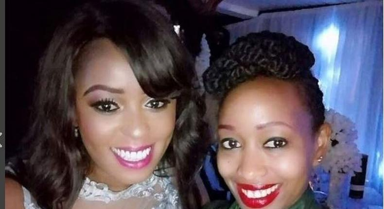 Lilian Muli and Janet Mbugua during the birthday party
