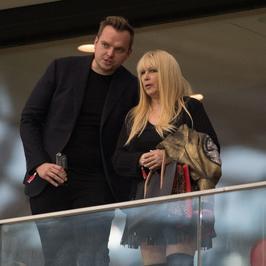 Maryla Rodowicz z synem na meczu Polska - Czarnogóra