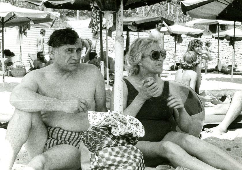 Kazimierz Górski z żoną - 1974 r.